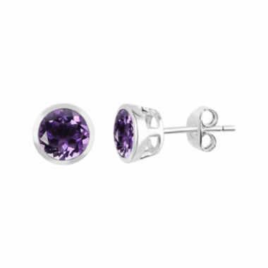 jcpenney.com |  Genuine Amethyst Sterling Silver Bezel Set Stud Earrings