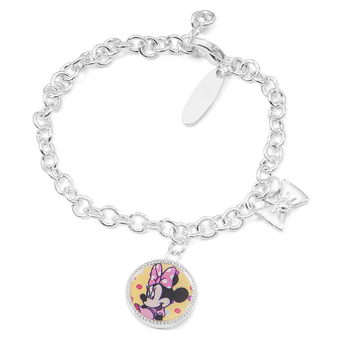 Disney Girls Minnie Mouse Charm Bracelet