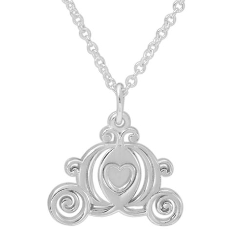 Disney Sterling Silver Carriage Pendant Necklace