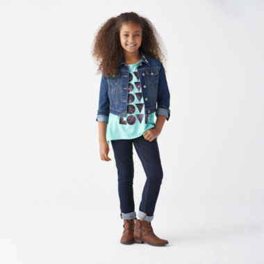 jcpenney.com | Denim Jacket, Graphic Tunic or Skinny Jeans - Girls 7-16 and Plus