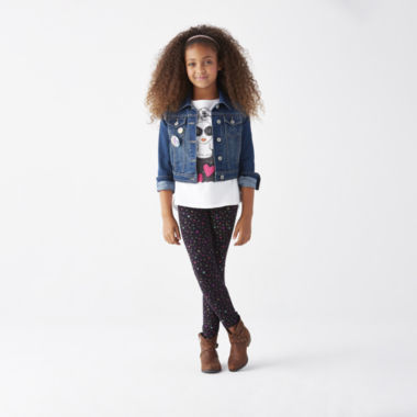 jcpenney.com | Denim Jacket, Embellished Graphic Tee or Printed Leggings - Girls 7-16 and Plus