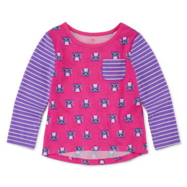 jcpenney.com | Okie Dokie® Long-Sleeve Print Tee - Baby Girls newborn-24m