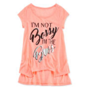 Insta Girl Short-Sleeve High-Low Graphic Tee - Girls 7-16