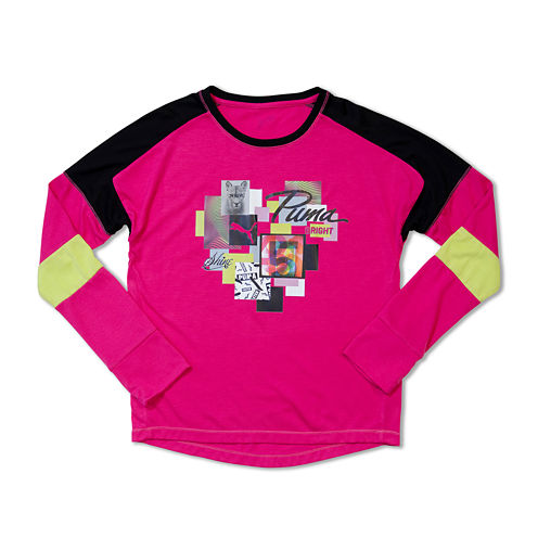 Puma® Long-Sleeve Piecing Top - Girls 7-16
