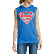 Superman Sleeveless Hoodie - Juniors