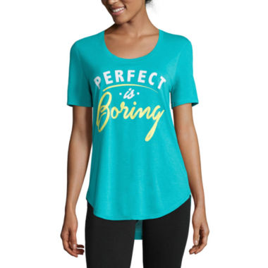 jcpenney.com | Short-Sleeve Perfect Is Boring Tunic Tee