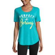 Short-Sleeve Perfect Is Boring Tunic Tee