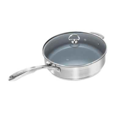jcpenney.com | Chantal® Induction 21 Steel™ 5-qt. Saute Skillet with Ceramic Coating and Glass Lid