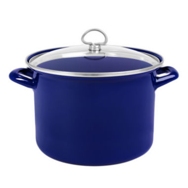 jcpenney.com | Chantal® 8-qt. Enamel-On-Steel Stock Pot with Glass Lid