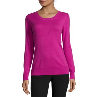 jcpenney.com | Worthington® Essential Long-Sleeve Crewneck Pullover Sweater - Tall