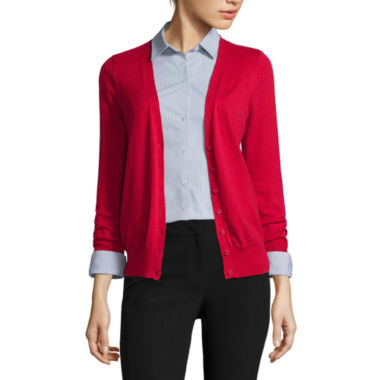 jcpenney.com | Worthington® Long-Sleeve Button-Front Cardigan
