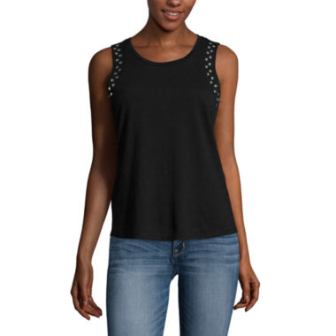 jcpenney.com | a.n.a® Studded Armhole Tank Top - Tall