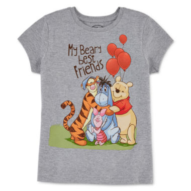 jcpenney.com | Disney Collection Short-Sleeve Pooh Hug Graphic Tee - Girls