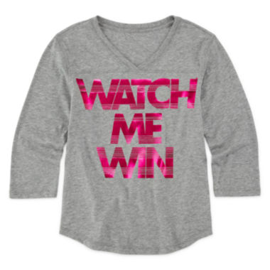jcpenney.com | Xersion™ 3/4-Sleeve Graphic Football Tee - Girls 7-16 and Plus