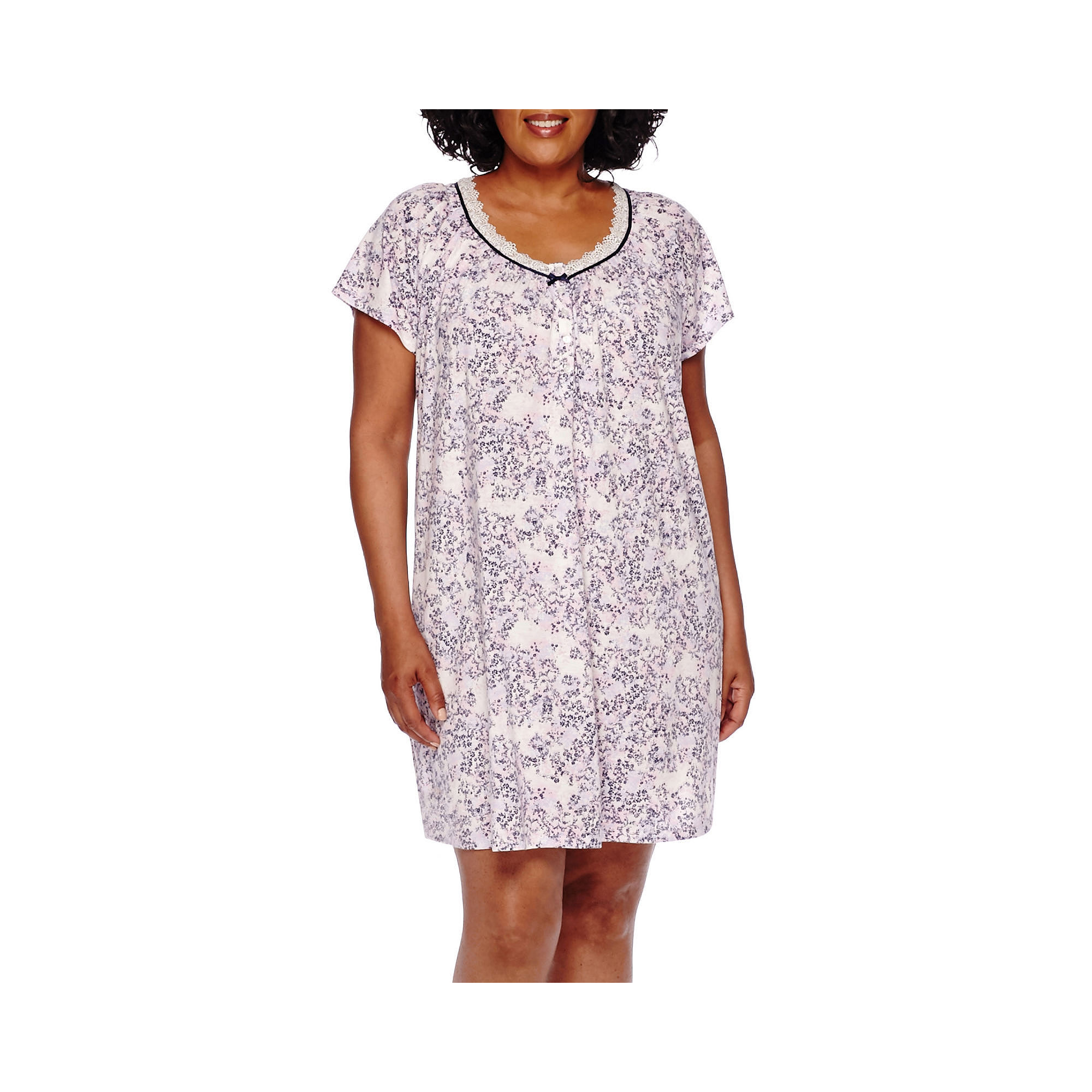 Earth Angels Short-Sleeve Nightgown - Plus plus size,  plus size fashion plus size appare