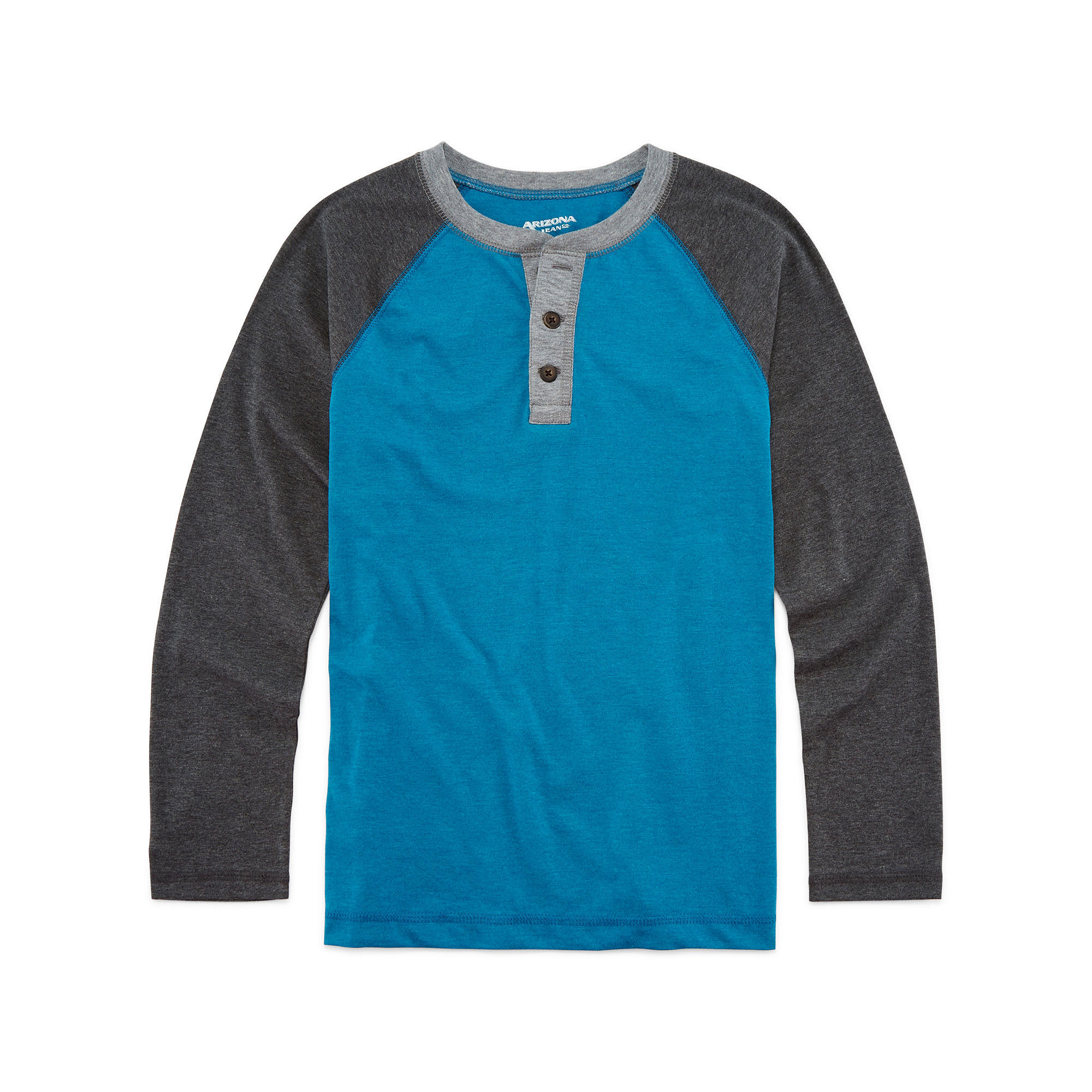 Arizona Long Sleeve Camo Henley Tshirt Boys 8 20 and Husky T Shirt | Shirts, Tops and Clothing