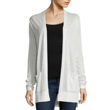jcpenney.com | St. John's Bay® Long-Sleeve Ribbed Flyaway Cardigan Sweater