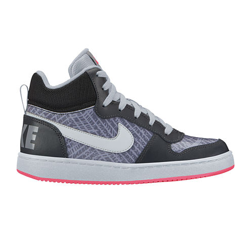 Nike Court Borough Mid Girls Sneakers - Big Kids