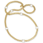 nicole by Nicole Miller® Goldtone & Hematite Pave Accent Necklace