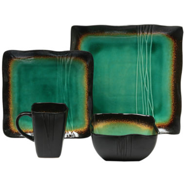 jcpenney.com | Baum Galaxy Jade 16-pc. Dinnerware Set