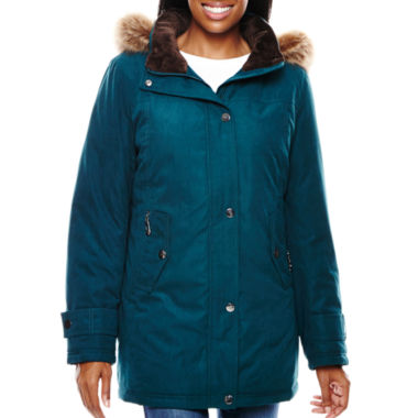 jcpenney.com | Miss Gallery Faux Fur-Trimmed Microfiber Coat
