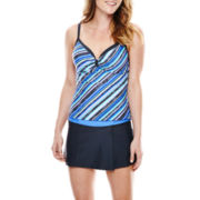 Free Country® Striped Sweetheart Tankini Swim Top or Skirted Bottoms