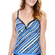 Free Country® Cabana Striped Sweetheart Tankini Swim Top