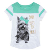 Okie Dokie® Graphic Football Tee - Preschool Girls 4-6x