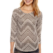 Almost Famous 3/4-Sleeve Hatchi Top