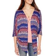 Heart & Soul® Print Kimono Layered Top