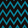 Teal/black Chevron