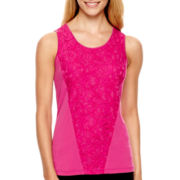 Worthington® Sleeveless Lace-Inset Top