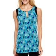 Worthington® Sleeveless Colorblock Shirt