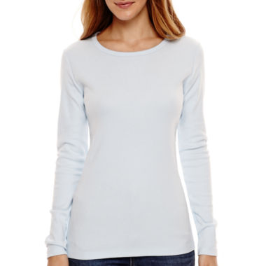 jcpenney.com | St. John's Bay® Long-Sleeve Essential Crewneck T-Shirt