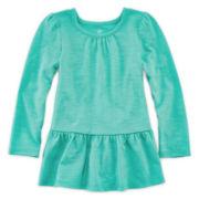 Okie Dokie® Peplum Tee - Toddler Girls 2t-5t