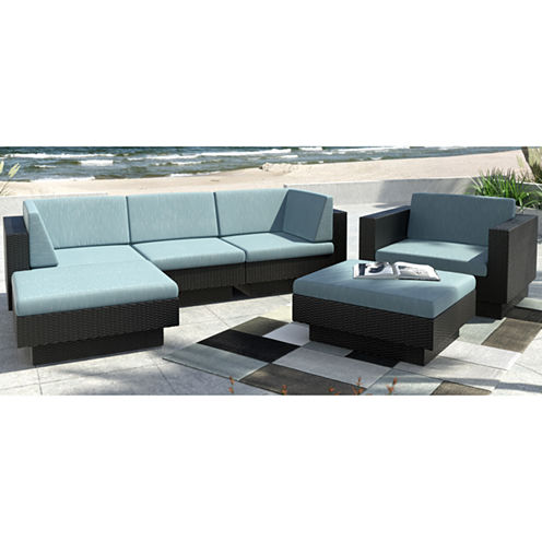 Park Terrace 6-pc. Double Armrest Sectional Patio Set