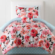 JCPenney Home™ Jenna Floral Comforter & Sheet Set