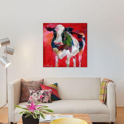 Cow by Richard Wallich Canvas Wall Art