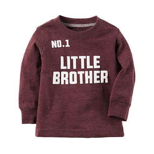 Carter's Long Sleeve Crew Neck T-Shirt-Baby Boys