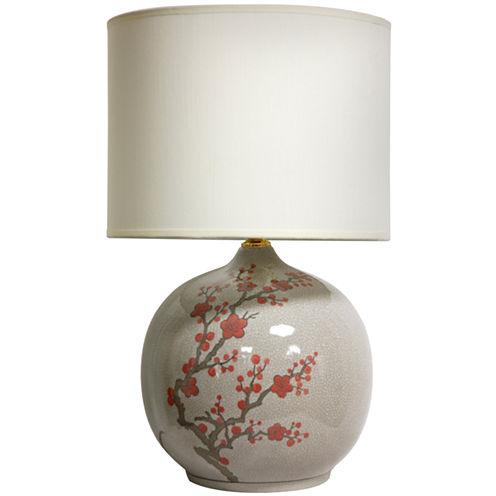"Oriental Furniture 20"" Cherry Blossom Vase Table Lamp"""