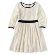 Sally M™ Sally Miller Lace Mesh Dress - Girls 6-16