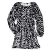 Speechless® Chevron Hatchi Dress - Girls 6-16