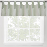 Park B. Smith Ticking Stripe Tab-Top Valance