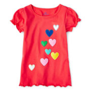 Okie Dokie® Embroidered Short-Sleeve Tee - Girls 12m-6y