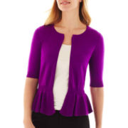Worthington Peplum Cardigan Sweater - Tall