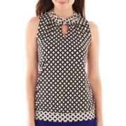 Worthington® Sleeveless Keyhole Top - Tall