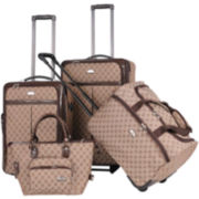 American Flyer Signature 4-pc. Expandable Upright Luggage Set