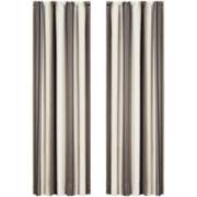 Queen Street® Platinum Striped Curtain Panel Pair