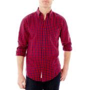 St. John's Bay® Long-Sleeve Plaid Flannel Shirt