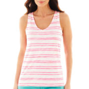 jcp™ Shirred Racerback Tank Top